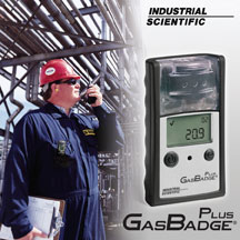 Industrial Scientific's GasBadge Plus is an economical single gas monitor ideally suited for short-term personal gas monitoring needs and special projects such as plant turnarounds or shutdowns.
