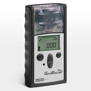 """Industrial Scientific Corporation has enhanced its full-featured, """"dockable"""" GasBadge Pro single gas monitor with the introduction of a low hydrogen (H2) interference carbon monoxide (CO) sensor option."""
