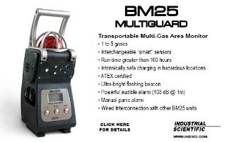 The BM25 Multiguard transportable multi-gas area monitor