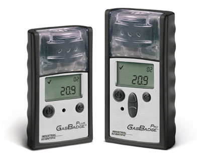 The GasBadge line of gas detectors