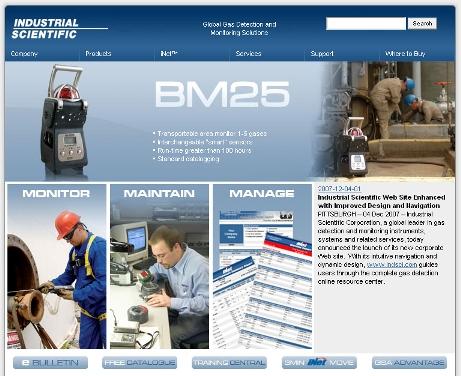 Industrial Scientific Corporation launches new corporate web site