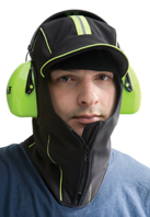 The Polar Hood is designed to be worn with earmuffs