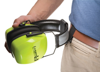 The Slim Belt Clip provides handy storage when earmuffs are not in use.