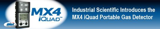 Industrial Scientific introduces the MX4 iQuad