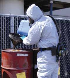 Respiratory safeguards are a must in hazmat operations.