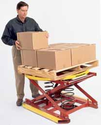 A pallet lifter raises as it is unloaded.