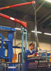 A below-the-hook device makes heavy, repetitive lifting both fast and ergonomically sound.