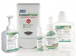 InstantFOAM kills 99.999% of many germs and bacteria in just 15-seconds