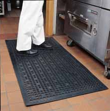 Mats in commercial kitchens