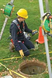 Gas detectors can be used in a variety of work-related environments, including manholes, pipes and industrial plants.