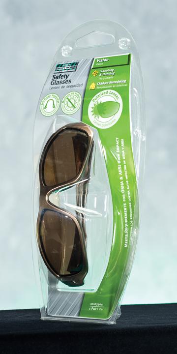 MSA Safety Works Espresso Polarized Safety Glasses