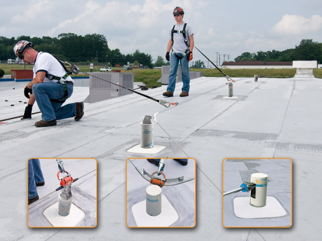 Unique energy-absorbing technology minimizes lifeline deflection, reduces forces on the roof structure and provides greater worker safety.