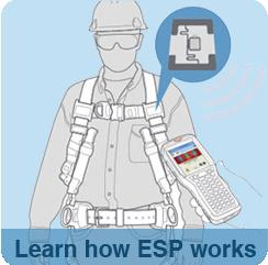 The new ESP System combines a web-based information management software service with ultra-high frequency (UHF) and radio frequency identification (RFID)-enabled Miller fall protection equipment for real-time tracking control and safety compliance management.